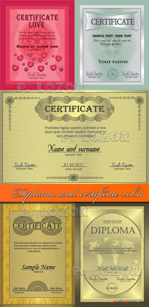 Diploma and certificate vol.11