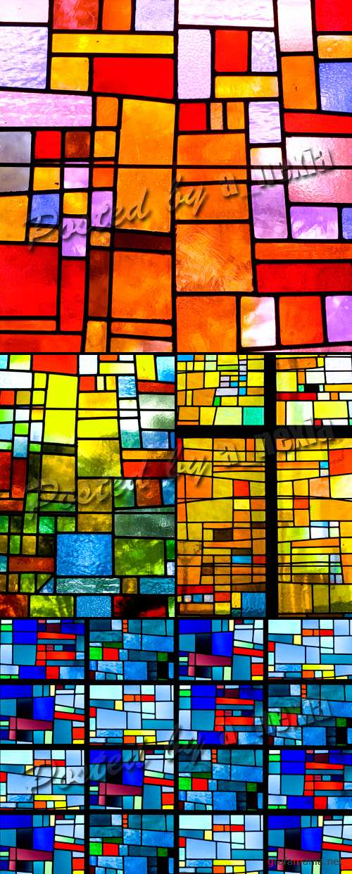 Stock Photo - Multicolored Stained Glass