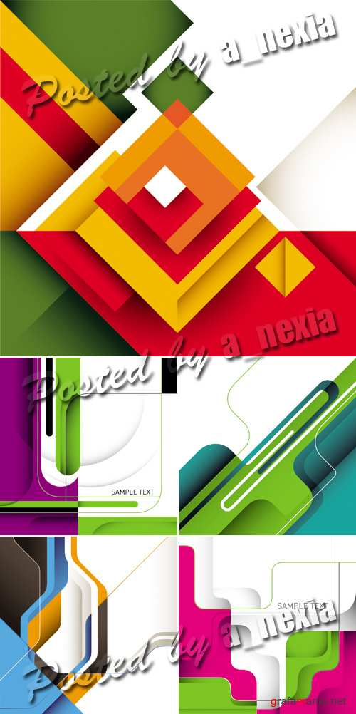 Abstract Business Templates Vector