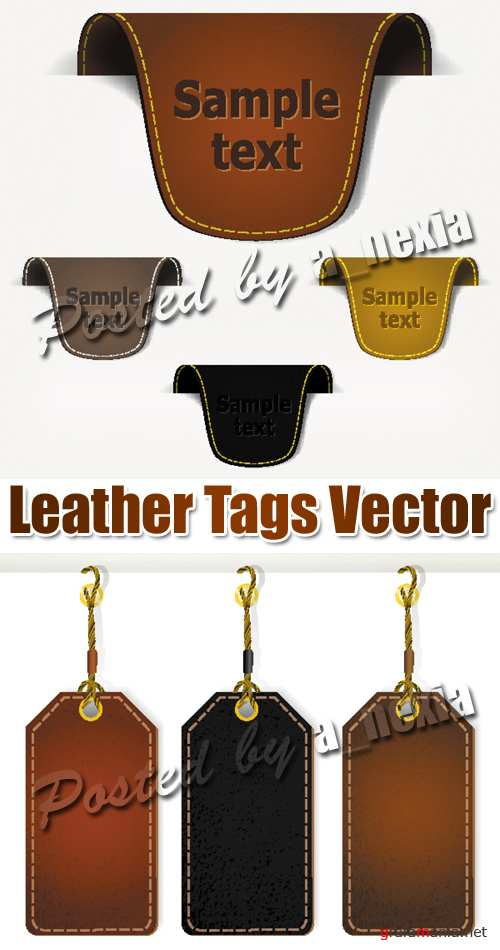 Leather Tags Vector
