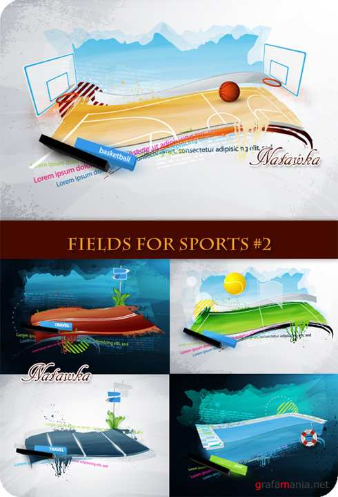 Fields for sports - Stock Vector 2
