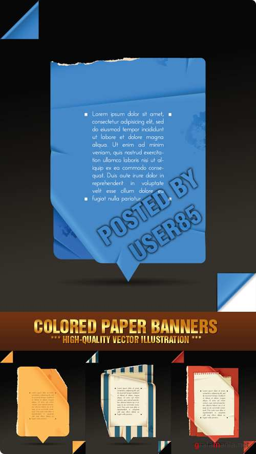 Stock Vector - Colored Paper Banners