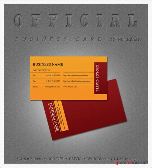 Official Business Card PSD Template