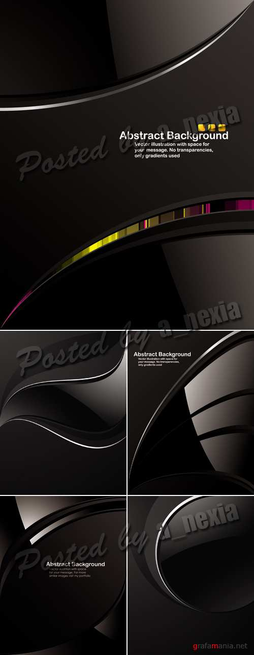 Black Abstract Backgrounds Vector