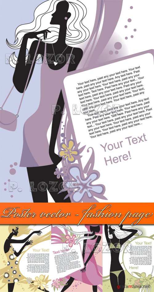 Poster vector - fashion page