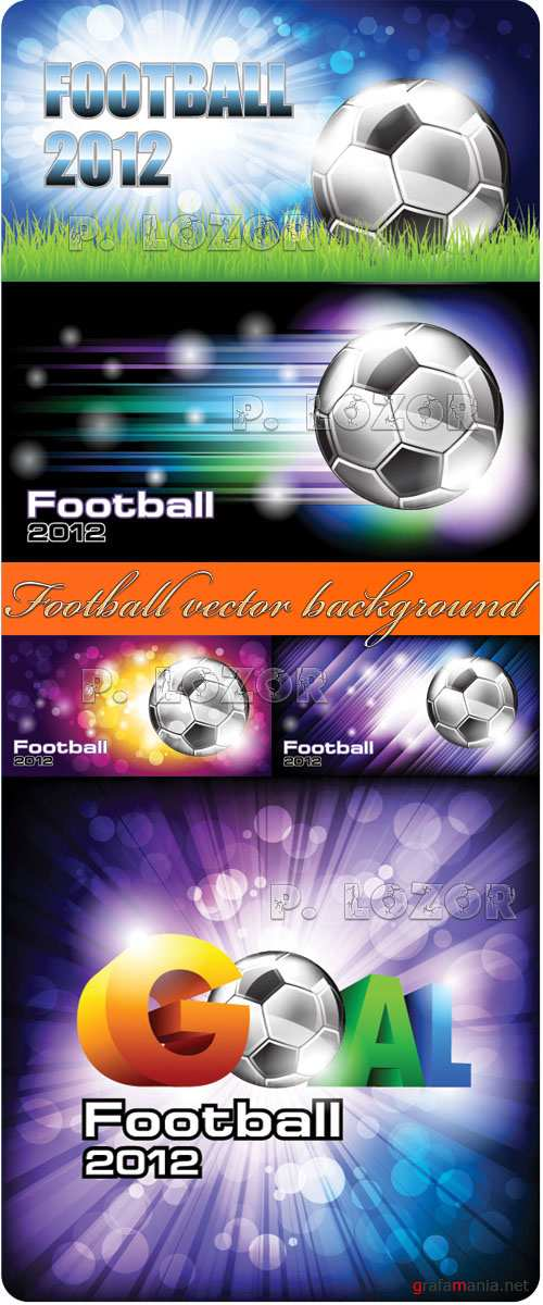 Football 2012 - vector background