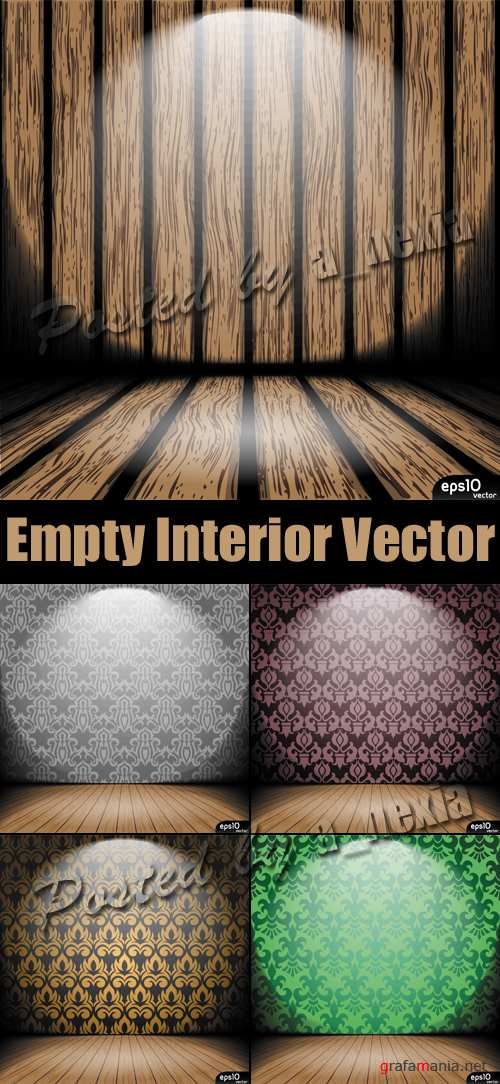 Empty Vintage Interior Vector