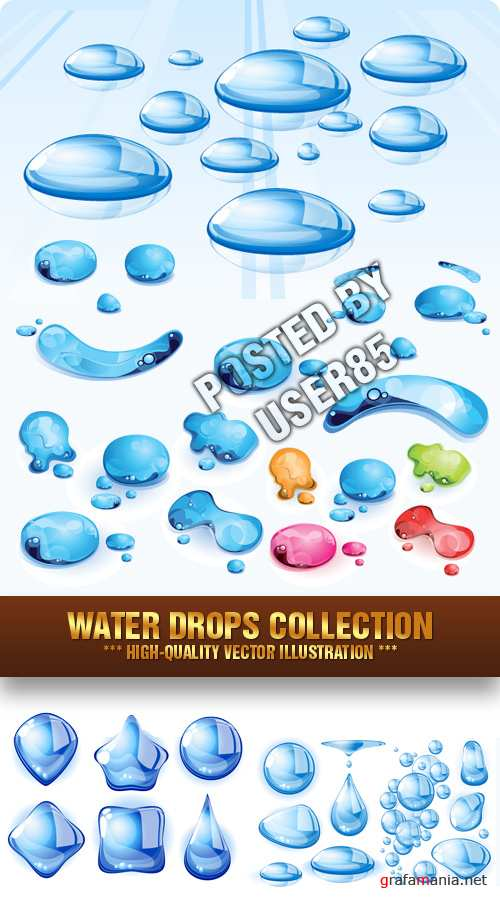 Stock Vector - Water Drops Collection