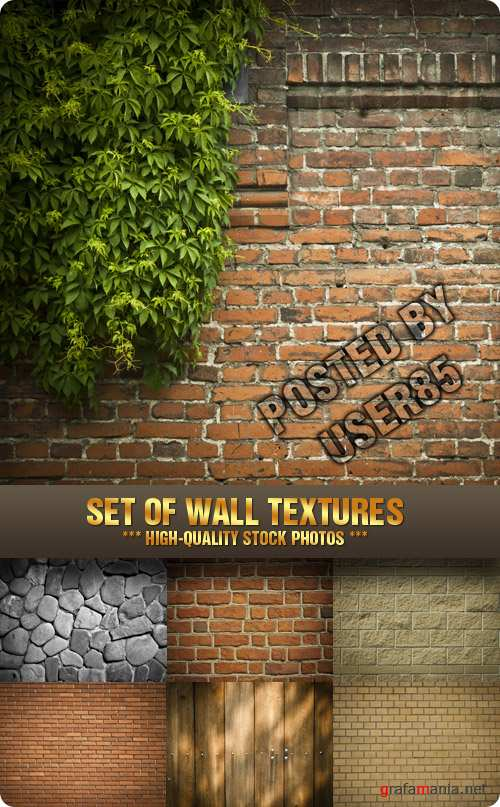 Stock Photo - Set of Wall Textures