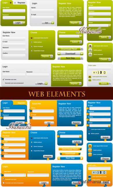 Web elements for site - Stock Vector