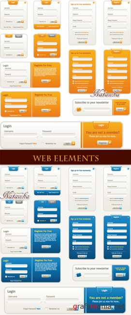 Web elements for site 2 - Stock Vectors