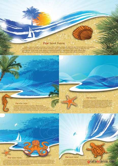 Summer & Sea Backgrounds