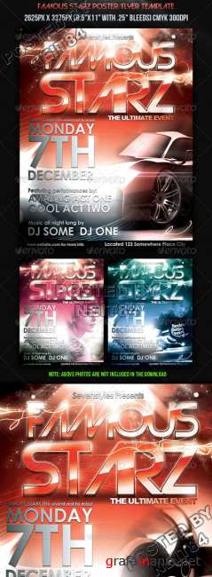 Graphicriver Famous Starz FlyerPoster Template