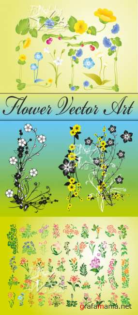 ����� � �������  Flower Vector Art