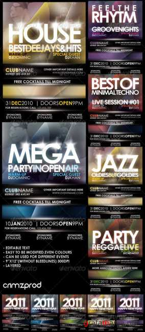 Graphicriver club party poster 148103