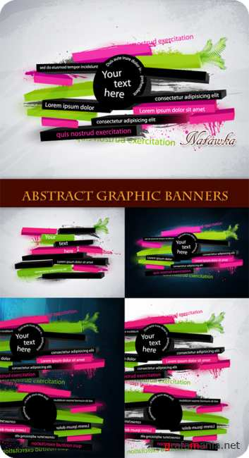 Abstract Graphic Banners - Stock Vectors