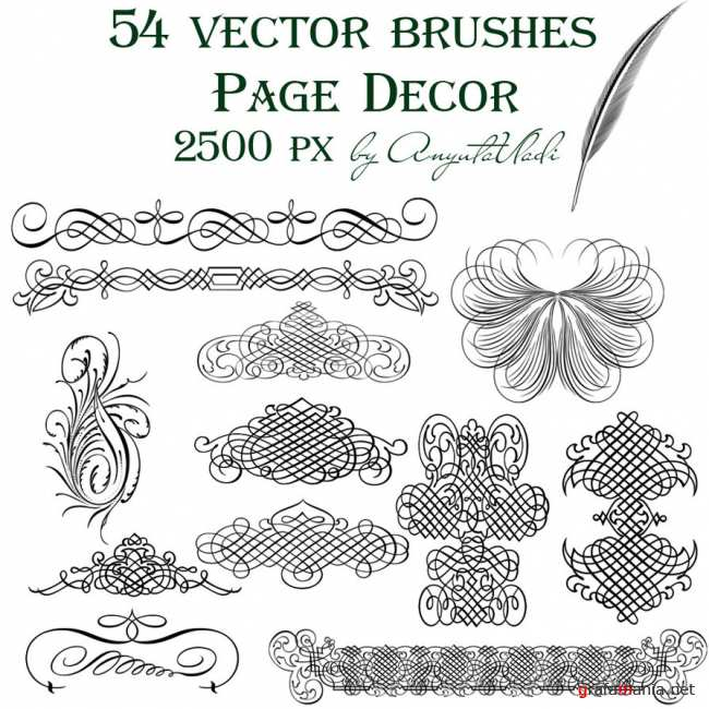 Page Decor vector brushes