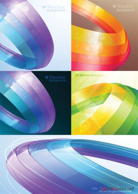 Vector background of colorful ribbons