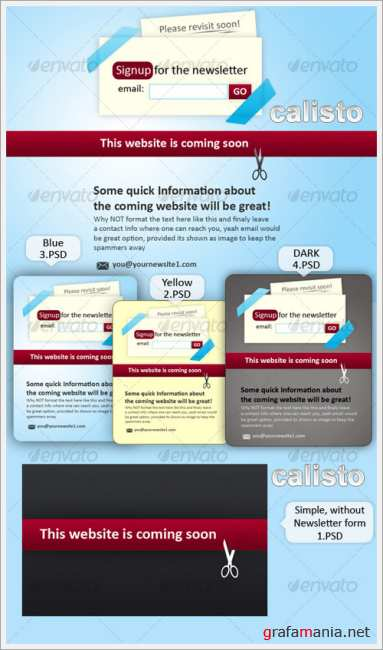 Website coming soon place holder - GraphicRiver