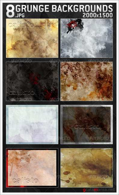 8 Grunge Backgrounds 2000x1500 - GraphicRiver