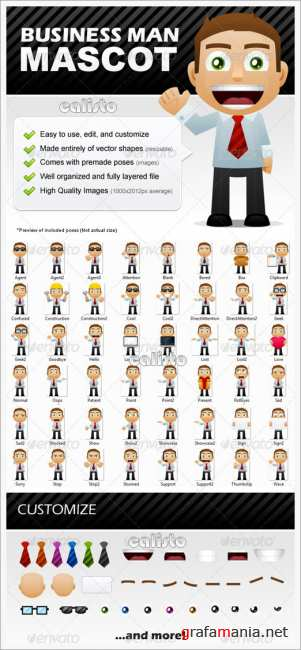 Business Man Mascot - GraphicRiver