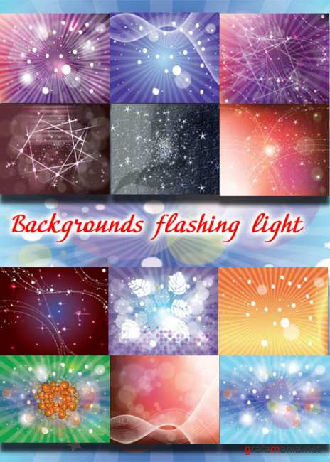 Backgrounds flashing light