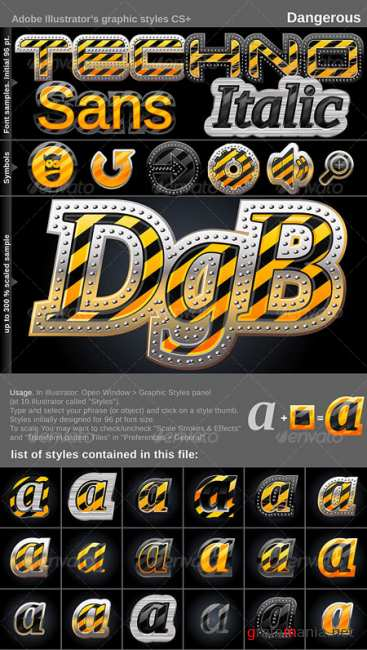 Graphicriver Illustrator Graphic Styles Dangerous 103847