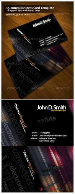Quantum Business Card Template - GraphicRiver
