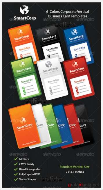 SmartCorp 6 Corporate Business Card Templates - GraphicRiver