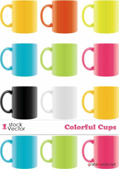 Colorful Cups Vector