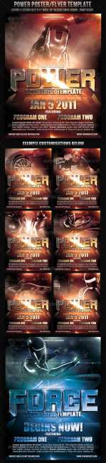 Graphicriver Power Poster Flyer Template 149732