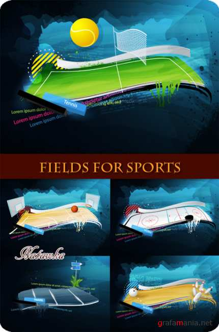 Fields for sports - Stock Vector