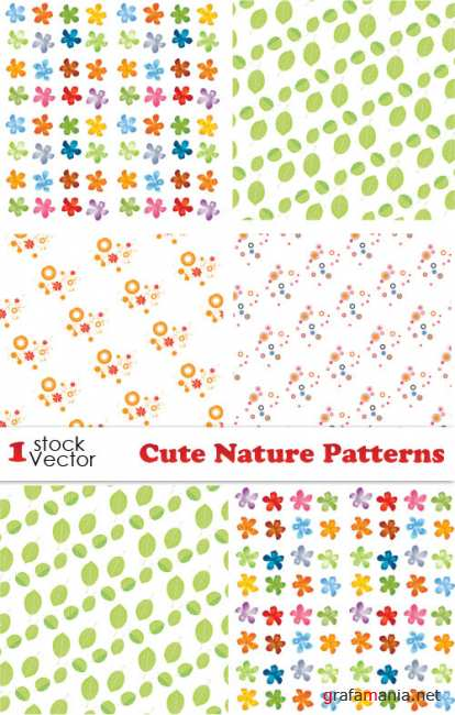 Cute Nature Patterns Vector