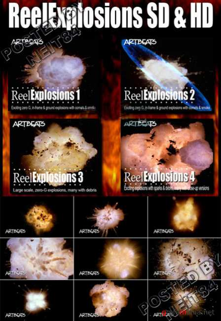 Footage ReelExplosions FULL PACK 5 VOLUME SD and HD