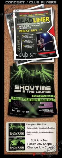 Graphicriver Flyer Set Concert Club