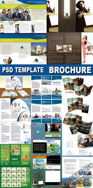 Pakage PSD template Brochure for business
