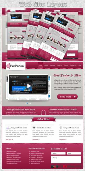 Website Layout PSD Template