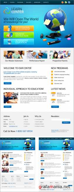 Website Template for Learn Center