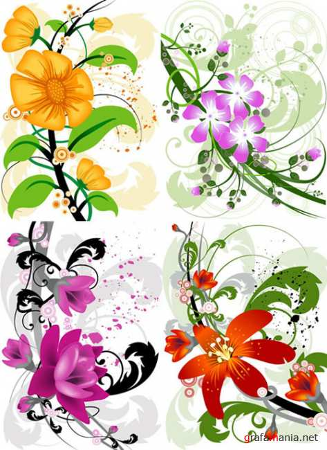 Flower Background - eps