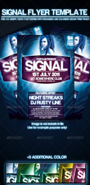 Graphicriver signal flyer template 243547