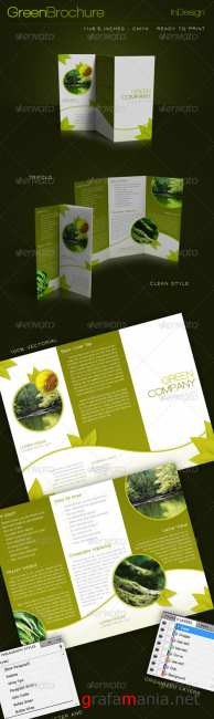 Green Trifold Brochure InDesign Template - GraphicRiver