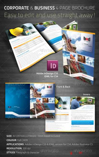 Graphicriver Corporate & Business 4 Page Brochure 241569