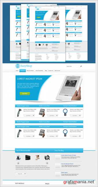 EazyShop  Ecommerce PSD Template