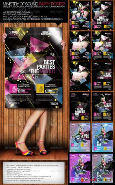 Graphicriver Ministry of sound party poster 170394