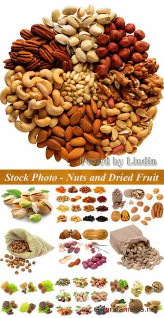Stock Photo - Nuts and Dried Fruit