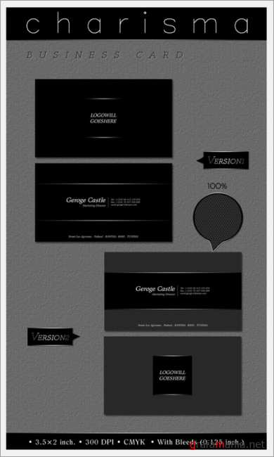 Charisma Business card PSD Template ( front & back)