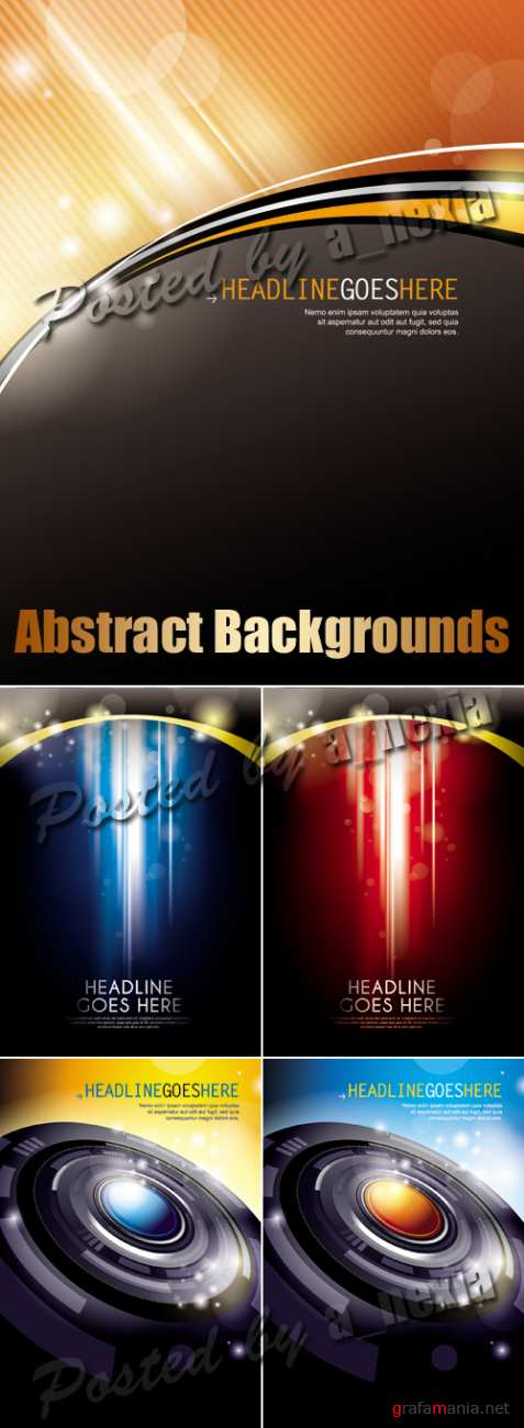Abstract Techno Backgrounds Vector 2
