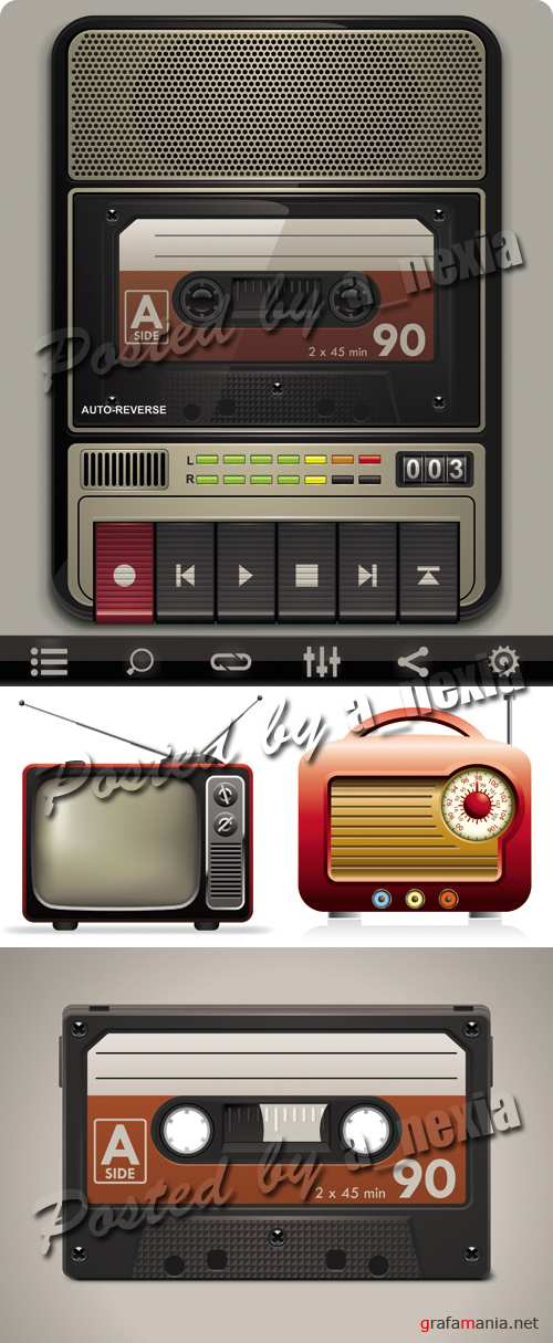 Retro Appliances Vector