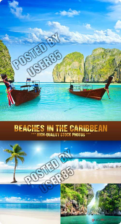 Stock Photo - Beaches in the Caribbean