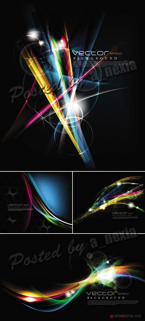 Abstract Glowing Backgrounds Vector 2